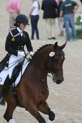 Ayden Uhlir (18-years-old) from Texas won the Individual Young Rider Gold Medal with her horse, Sjapoer, a 13-year-old KWPN(Contango x Jenia/Wolfgang) Photo: Victoria Trout