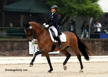 Elizbeth Ball and Avanti, her first time in the Gladstone Arena. Photo: Mary Phelps