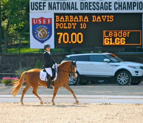 Barbara (Bebe) Davis won the National Pony Rider Dressage Championship on Poldy 10(pictured) and the National Pony Rider Dressage Reserve Championship on Bohdjan at the 2012 USEF National Dressage Championships at Gladstone