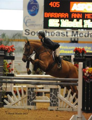 Barbara Ann Merryman and Fernway Park were third in the ASPCA Maclay Regionals. Photo by Randi Muster.