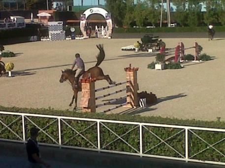 Tails are up and all ready to go at Real Club de Polo in Barcelona, Spain where the first warm-up class for the Furusiyya FEI Nations Cup™ Jumping Final 2013 got underway this afternoon.  FEI/LPpics