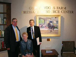 Sam Barish with Chuck and Joanne Smith and the Gypsey Woods Farm Dressage Resource Center