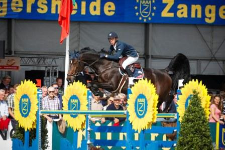The NRPS stallion, Barnike, owned by Ballywalter Farms claimed the Six-Year-Old title at the FEI World Breeding Jumping Championships for Young Horses in Lanaken, Belgium today with Ireland's Bertram Allen on board.  Photo: FEI/Dirk Caremans.