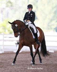 Kassie Barteau riding Delano Credit: SharonPacker.com