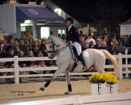 Jacqueline Brooks and D-Niro winner of the Grand Prix Freestyle (Photo: Hoof Print Images)