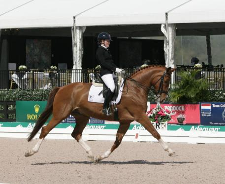 Barbara (Bebe) Davis and Fievel Mousekewitz at the 2014 Florida International Youth Dressage Championships  Photo: Betsy LaBelle