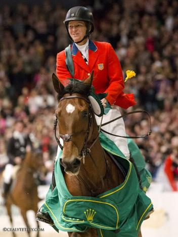 Beezie Madden and Simon's 2013 Rolex World Cup Jumping Final Victory Gallop in Gothenburg, Sweden. Photo by Cealy Tetley.