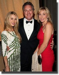 Mark Bellissimo with wife Katherine and daughter Paige.