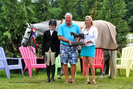Bergen Sanderford and her own Kid Rock received the Hummel Perpetual Trophy from Classic Company President Bob Bell and Awards Coordinator, Robin McPhearson. Flashpoint Photography