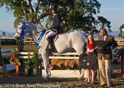 Bert Mutch celebrates his win in the USHJA National Hunter Derby. Photo: Sheri Scott
