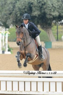 Bianca Jenkins leads the LAHJA Pony Medal Final from start to finish. Photo: Flying Horse Photography