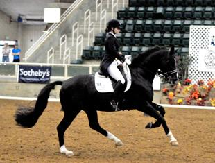 Mary-Haskins Gurganus and Richmond at the Autumn Leaves Dressage and CBLM Championships. (Photo: WNC Photography)