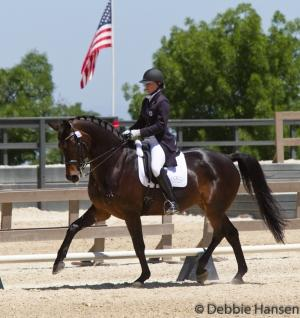 Brandi Roenick and Weltino's Magic, both highly decorated before forming their partnership, are already making a mark on the dressage ring as a pairPhoto: Debbie Hansen