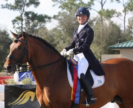 Samira Uemeura of Brazil won the Premier Equestrian Sportsmanship Award