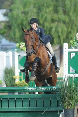 Bridget Conoscente comes from behind to win her first medal final. Photo: Flying Horse Photography