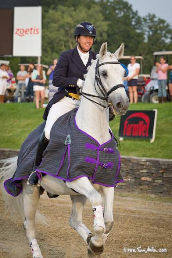The Grand Prix Freestyle was won by Canadian Jacqueline Brooks riding D'Niro to a score of 71.550.