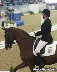 Active dressage judge, commentator and veteran of two Paralympics (2000 and 2008), U.S. rider Robin Brueckmann (Grade IV)