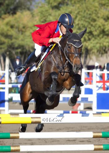 Buck Davidson and Petite Flower, winners of the CCI3* at the Galway Downs International Three-Day Event. (Amy McCool photo)