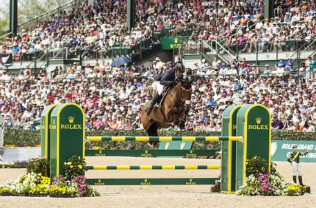 Buck Davidson rode Ballynoe Castle RM to third place in the Rolex Kentucky Three-Day Event, presented by Land Rover. (Ben Radvani photo)