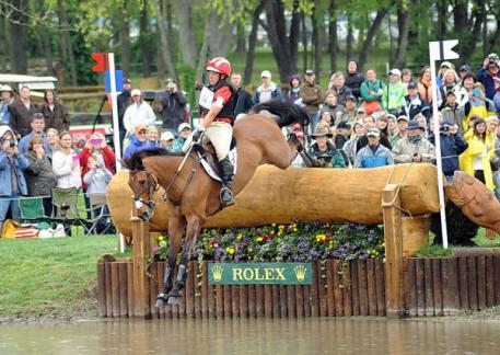 Buck Davidson was awarded the USET Foundation's Pinnacle Cup Trophy for the third time as the highest placed American rider at the 2013 Rolex Kentucky Three-Day Event CCI****. Photo By: Nancy Jaffer.
