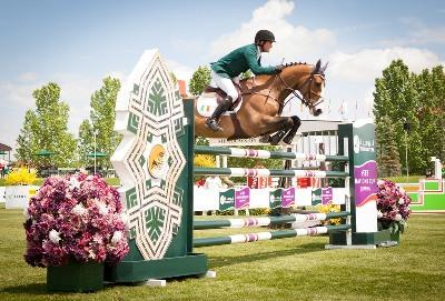 A double-clear from anchorman Cameron Hanley and Antello secured victory for Ireland in the eleventh leg of the Furusiyya FEI Nations Cup™ Jumping 2013 series at Spruce Meadows in Calgary, Canada today.  Photo: FEI/StockimageServices.com