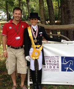 Jaimey Irwin and Camille Frechette (winning Team Bronze 2012) Photo: Tina Irwin