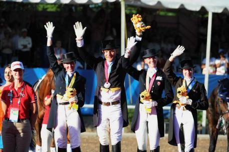 Dressage Team Canada Silver Medal at the 2011 Pan American Games (Photo: Diana de Rosa)