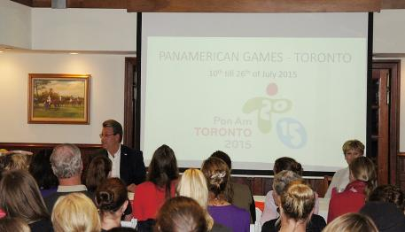 The 2014 Canadian Fortnight in Wellington, Florida - Thomas Baur spoke about the PanAmerican Games next year Photo: Betsy LaBelle