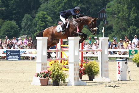 Candice King and Toronto, winners of the ,000 Cleveland Grand Prix at the 2011 Chagrin Valley Hunter Jumper Classic (photo by Anne Gittins Photography)