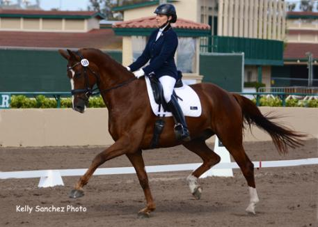Elizabeth Ball and and Caravaggio at the Del Mar National 2014 Phto: Kelly Sanchez