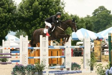 Canada's Carly Morrison riding Duvel won the ,000 SJHOF High Junior/Amateur-Owner Classic on Sunday, July 7, at the Vermont Summer Festival in East Dorset, VT. David Mullinix Photography