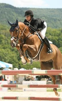 Catherine Tyree secured her first career grand prix victory with Sandor de la Pomme in the ,000 Manchester and the Mountains Grand Prix, presented by Purina Horse Feed, held August 8 at the Vermont Summer Festival in East Dorset, VT. Photo by David Mullinix Photography
