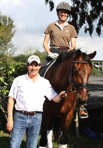 FEI 3* Judge Cesar Torrente and Olivia LaGoy-Weltz at the February Ride-a-Test clinic.