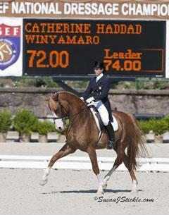 Catherine Haddad and Winyamaro moved up from 13th to fourth place overall in the standings for the USA to become the US Reserve Rider for the Alltech/FEI World Equestrian Games. Photo courtesy of susanjstickle.com