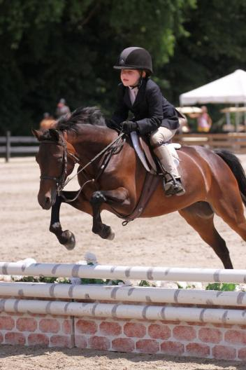 A young competitor during Opening Weekend at the 2012 Chagrin Valley Hunter Jumper Classic (Credit Anne Gittins Photography)