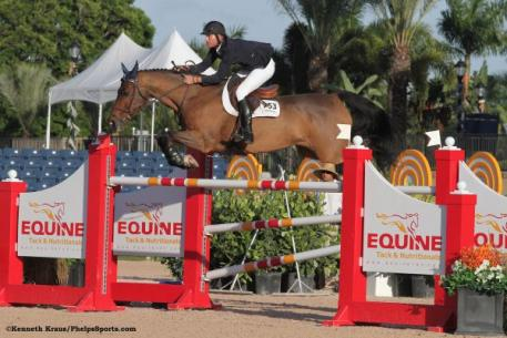 Charlie Jacobs and Flaming Star win ,000 Holiday & Horses CSI-W 2*. Photo By: Kenneth Kraus/PhelpsSports.com