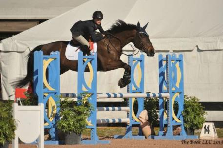 Charlie Jacobs Jr and Elphaba Win Low Children's Jumper Championship. Photo By: Parker/Russell - The Book LLC.