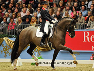 Charlotte Dujardin and Valegro at the Olympia Horse Show (Photo: Team GBR)