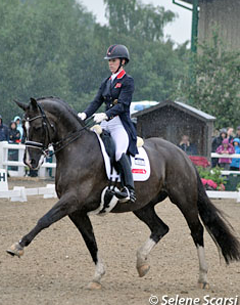 Charlotte Dujardin and Valegro in the Grand Prix class at the 2012 CDI Hartpury on Friday 6 July 2012 (Photo © Selene Scarsi)