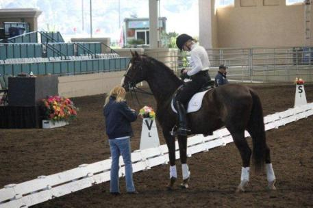 Charlotte and Dreammaster with USA Team Coach Anne Gribbons (Photo: Jill Giese)