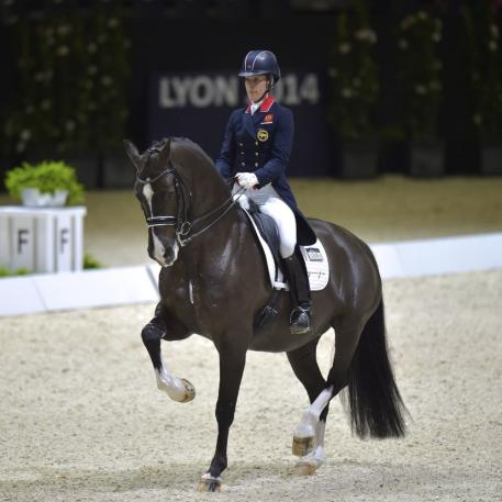 Charlotte Dujardin (GBR) and Valegro, pictured at the Reem Acra FEI World Cup™ Dressage Final 2014, head the FEI World Individual Dressage Rankings. ©FEI/Arnd Bornkhorst