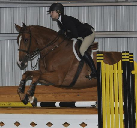 Charlotte Jacobs aboard Stallone VDL. Photo courtesy of Reflections Photography.
