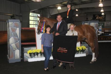 Charlotte Jacobs and Patrick win ASPCA Maclay Regional Championship for Region 1. Photo By: Reflections Photography.