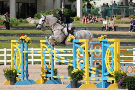 Chianto named  'Omega Alpha Horse of the Month' for June. Flying Horse Photography