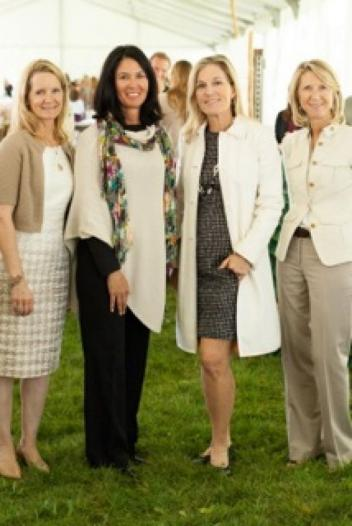 Pictured left to right: Margaret Benjamin, Chair of the Chicago Hunter Derby and President of the Board of Trustees, University of Chicago Cancer Research Foundation; Lynn Jayne, President, USHJAF; Jill Pollock, President, University of Chicago Cancer Research Foundation Women's Board; and Lauren Gorter, President, Founders' Board, Ann & Robert H. Lurie Children's Hospital of Chicago.