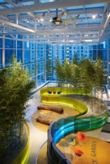 The Crown Sky Garden at Ann & Robert H. Lurie Children's Hospital of Chicago.
