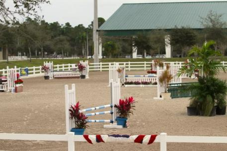 The Citrus Series arena at Jim Brandon Equestrian Center Okeeheelee Park