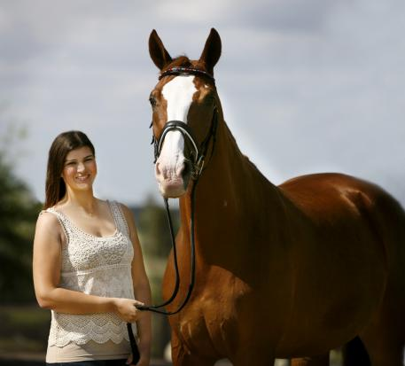 Florida teen dressage star Rebecca Cohen's heart may belong to her horse Downtown, but her education will take precedence this summer in lieu of invitations to study from Colombia University's summer pre-law program and Brown University. (Photo: courtesy of Barbara Bower)
