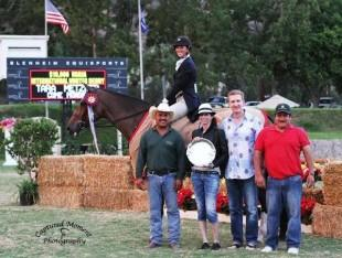 Come Monday and Tara Metzner win the $10,000 USHJA International Hunter Derby.   Photo courtesy of CapturedMomentPhoto.com