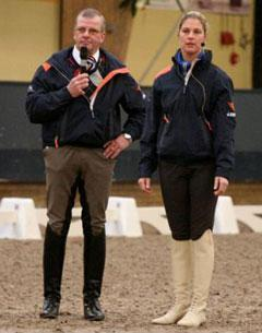 Adelinde Cornelissen and Johan Hamminga shared their vision with 650 trainers at the Dutch KNHS centre in Ermelo. (Photo Marjon Hoen for dressagedirect)